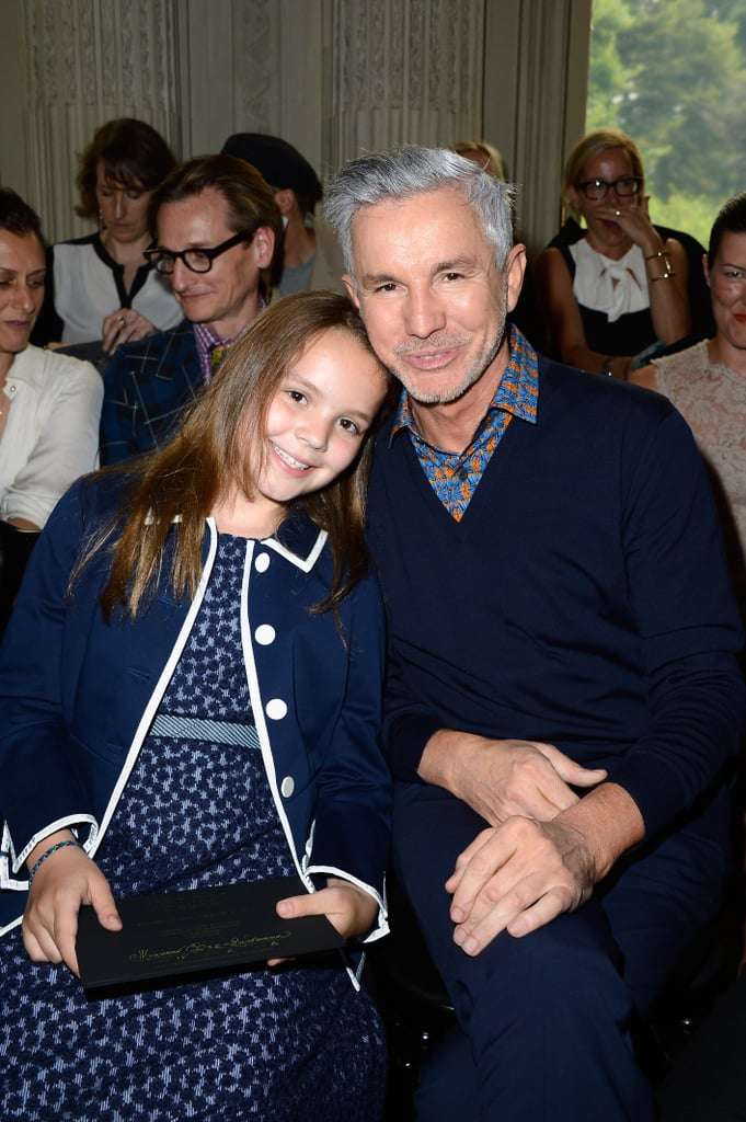 Baz Luhrmann and his daughter Lillian attended the Valentino show on Wednesday.