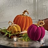 These Velvet Pumpkin Halloween Decorations Are So Elegant