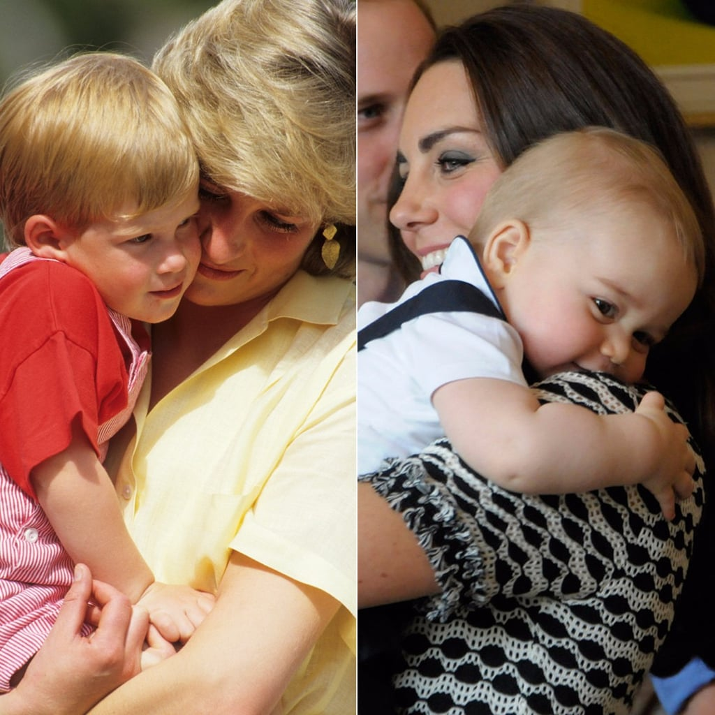 Princess Diana and Duchess of Cambridge With Their Kids