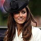 During the Trooping the Color procession in 2011, the duchess wore this stunning sheer fascinator.