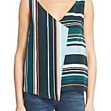 "Veda ""Drift"" Stripe Silk Tank ($235)"