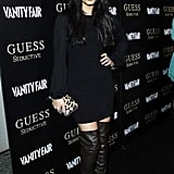 We're used to seeing Vanessa Hudgens in colorful, boho-inspired gear, but she looked smashing — and grown-up! — in black.