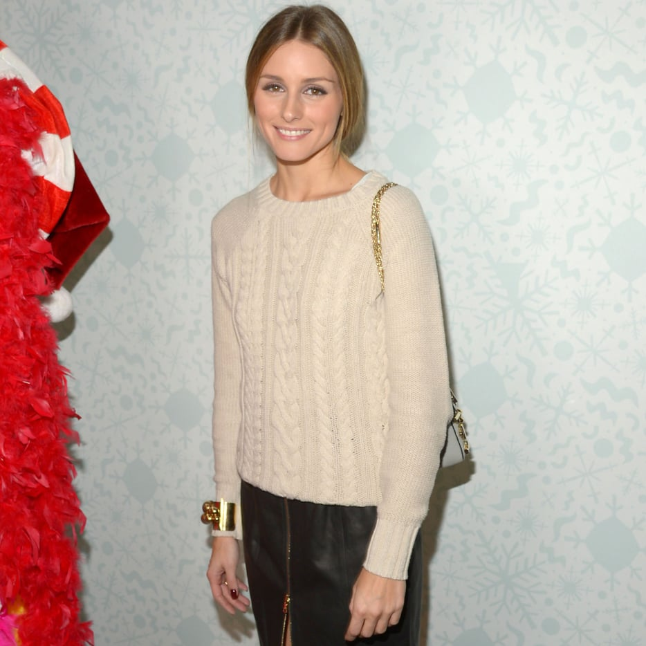 Olivia Palermo Cable-Knit Old Navy Sweater