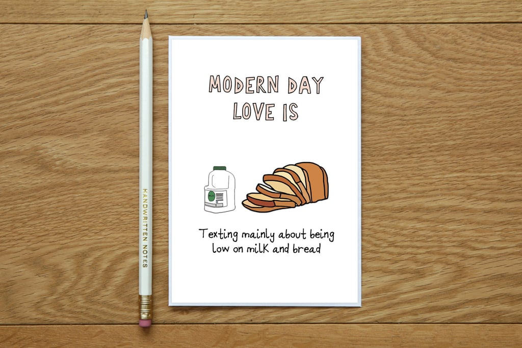 Modern Love Grocery Shopping Valentines Day Card  Funny