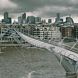 Here's the bridge meeting its disastrous fate at the hand of the Death Eaters in Harry Potter and the Half-Blood Prince.