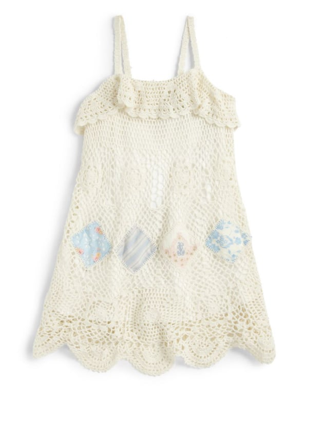 Dress your flower child in this Ralph Lauren open-knit crocheted sundress ($185). Paired with a hat and sandals, it'll have her ready for any adventure.