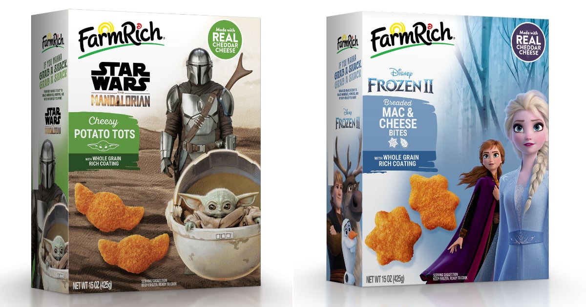 Cue Your Kids' Excitement: Baby Yoda Cheesy Tots and Frozen 2 Mac and Cheese Bites Exist
