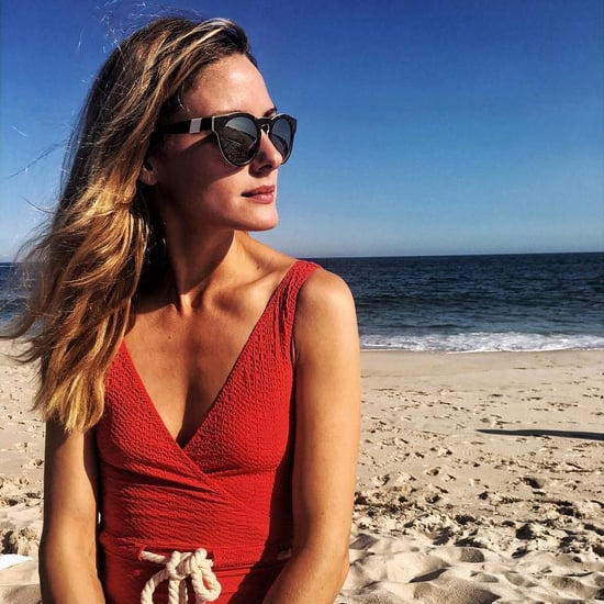 Olivia Palermo Wears Red One-Piece Swimsuit