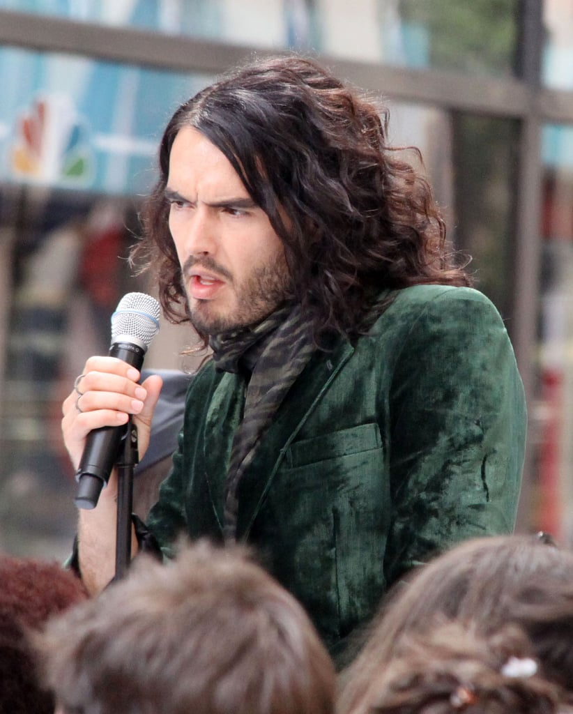 Russell Brand as Aldous Snow Filming Get Him To The Greek In NYC