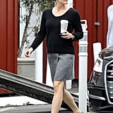 Jennifer Garner made a Thursday morning coffee run in LA.