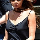 Victoria Beckham spent Memorial Day shopping, and kept her style suitably relaxed with a breezy blow dry.