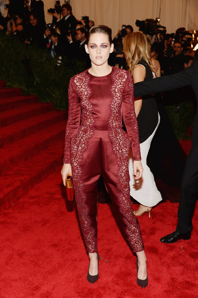 Kristen Stewart turned into a scarlet woman at the Met Gala in NYC in May 2013.