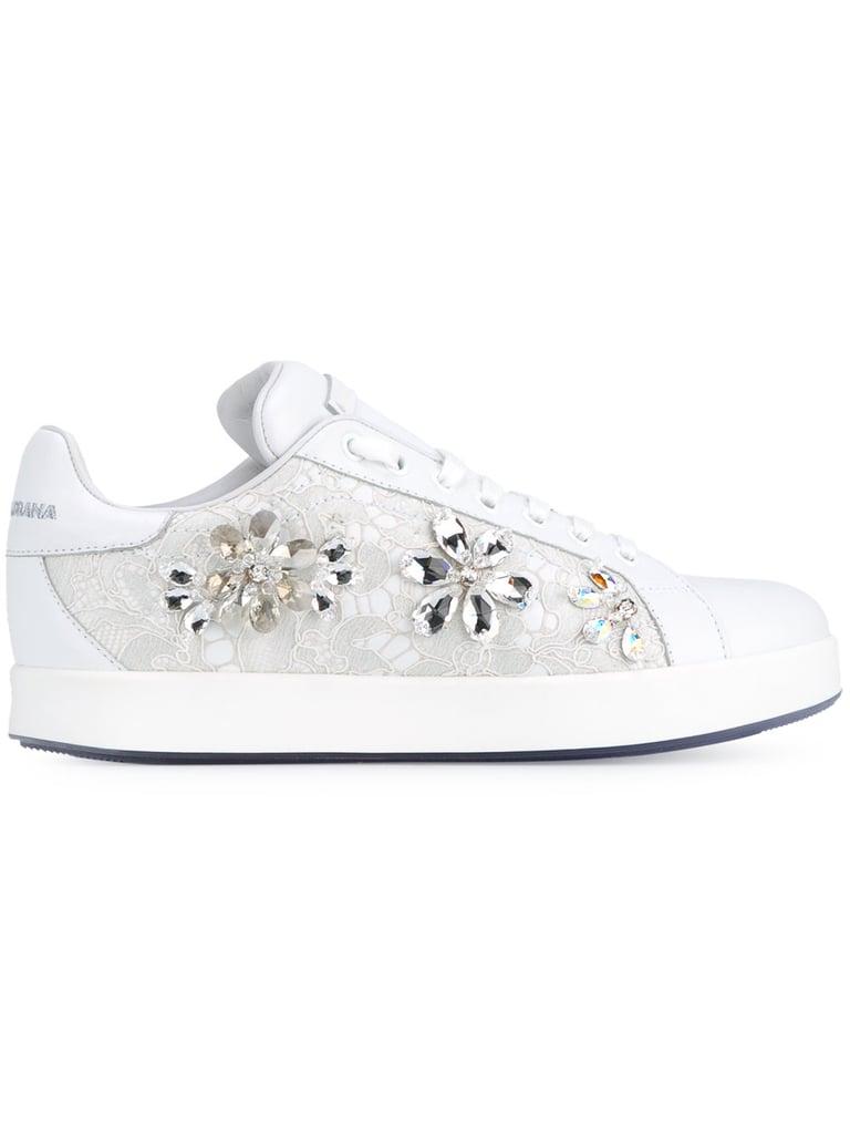 Dolce & Gabbana Enfants Embelli Baskets À Lacets - Blanc wbNZT