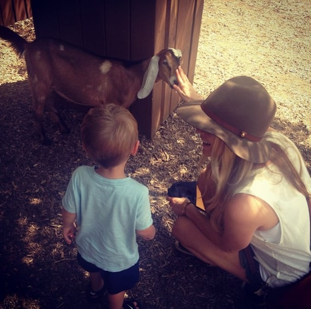 Kristin shared a photo of her oldest son, Camden, visiting a zoo for the first time. Source: Instagram user kristincavallari