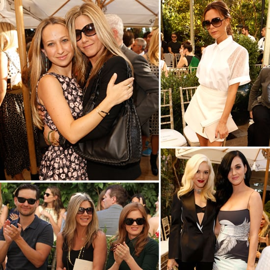 Jennifer Aniston and Victoria Beckham at Vogue Event in LA