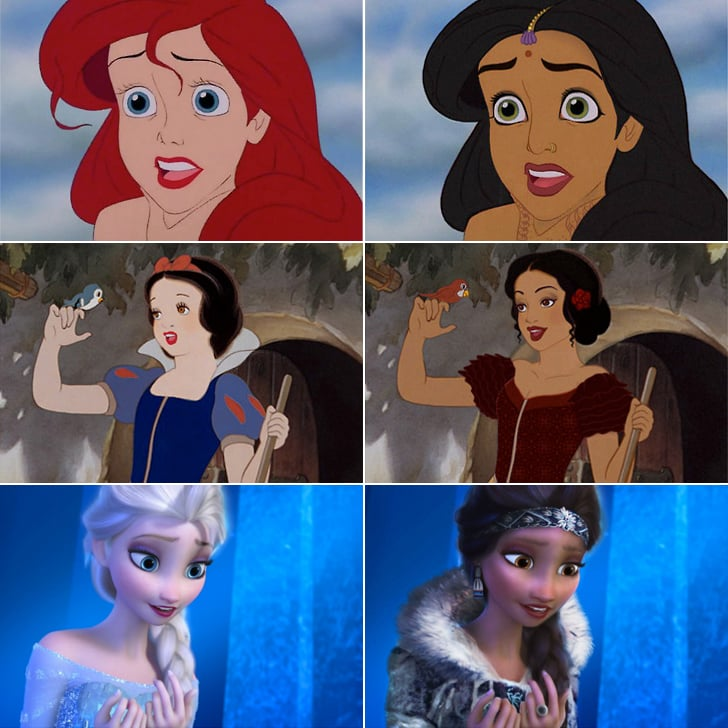 Disney Princesses With Different Races