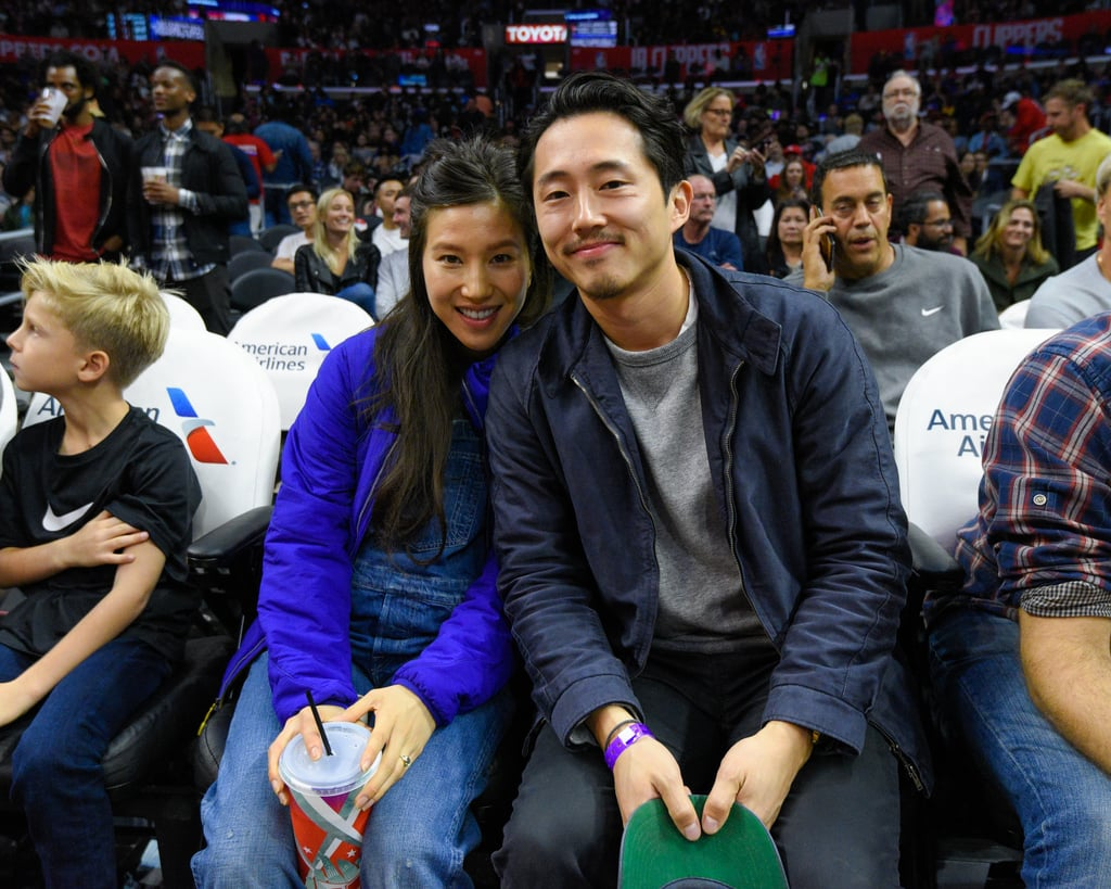 For anyone who watched The Walking Dead's season seven premiere, the loss of beloved character Glenn Rhee was almost too much to take. Luckily Glenn's real-life counterpart, Steven Yeun, is still alive and well and decided to shake off his brutal exit from the show with a sweet date night with wife Joanna Pak at the Los Angeles Clippers game on Monday. Steven, who already has another job lined up post-TWD, chatted with a few basketball players and even snapped a few photographs with Billy Crystal before watching the Clippers beat the Detroit Pistons. While these photos won't cure your Glenn withdrawals, they'll definitely soften the blow (no pun intended).      Related:                                                                                                           28 Times The Walking Dead Emotionally Scarred You Forever