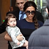 Harper and Victoria Beckham traveled to Hong Kong.