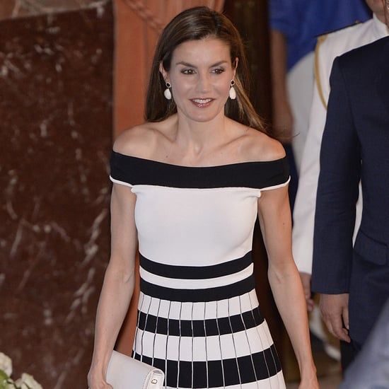 Queen Letizia Wearing Clear Heels June 2017