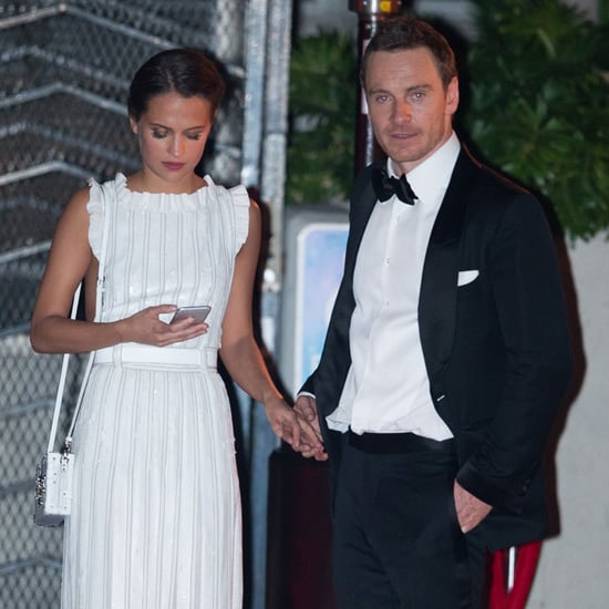 Michael Fassbender and Alicia Vikander at Golden Globes 2016