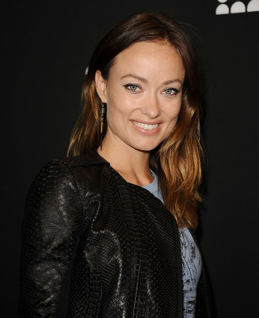 Olivia Wilde was a fan of the natural look, opting for just a subtle flick of eyeliner across her lids and a nude palette.