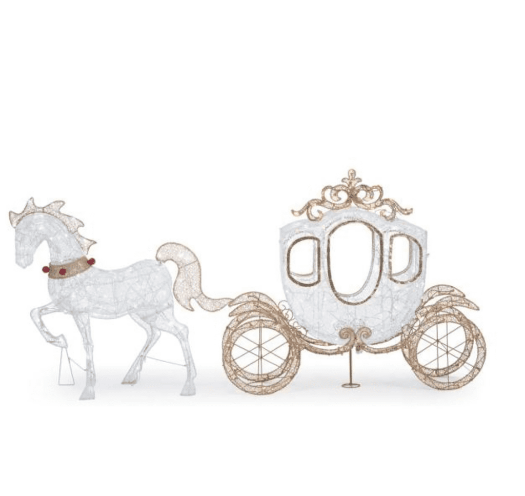Home Accents Holiday 58-Inch 180-Light LED Carriage With 43-Inch LED Horse