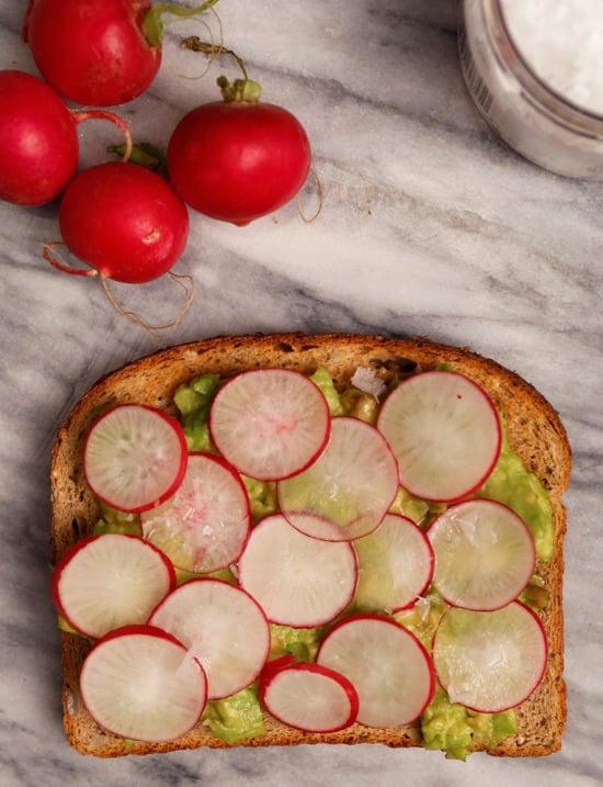 Avocado Toast With Radishes