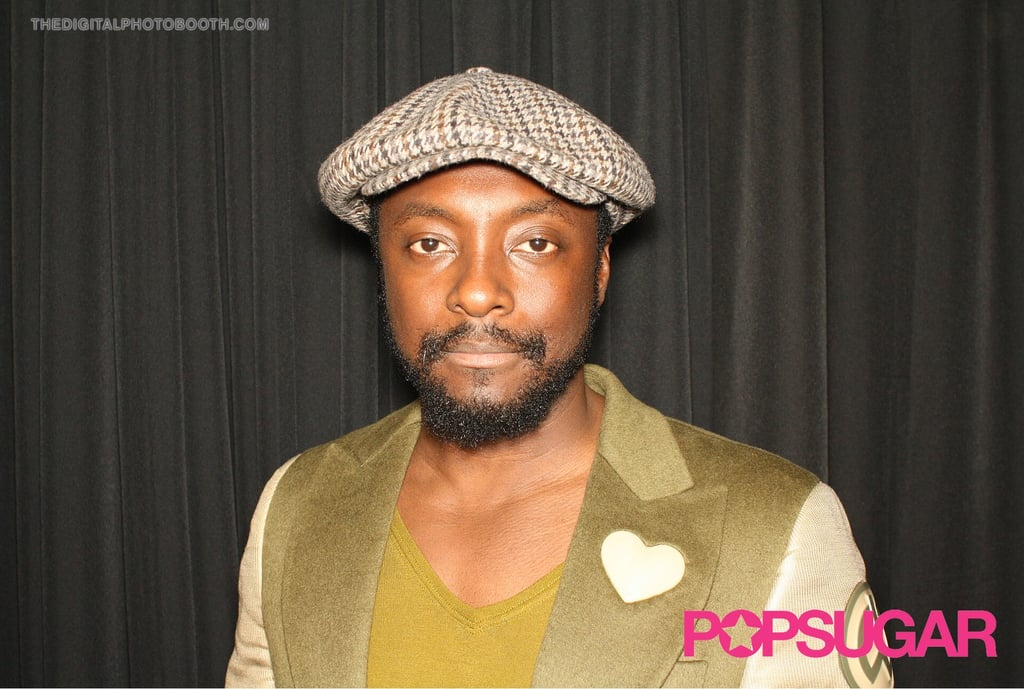 Will.i.am went with the BYO hat option.