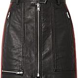 Shop Karlie's Skirt: Isabel Marant Étoile Alynne Striped Leather Miniskirt