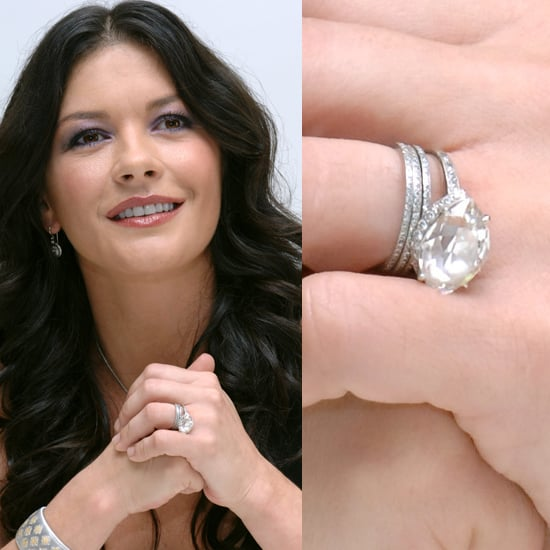 Catherine ZetaJoness Pretty Diamond Celebrity Engagement Rings