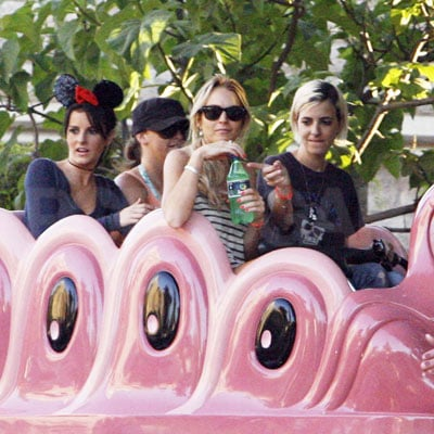 Lindsay Lohan, Ali Lohan and Samantha Ronson at Disneyland