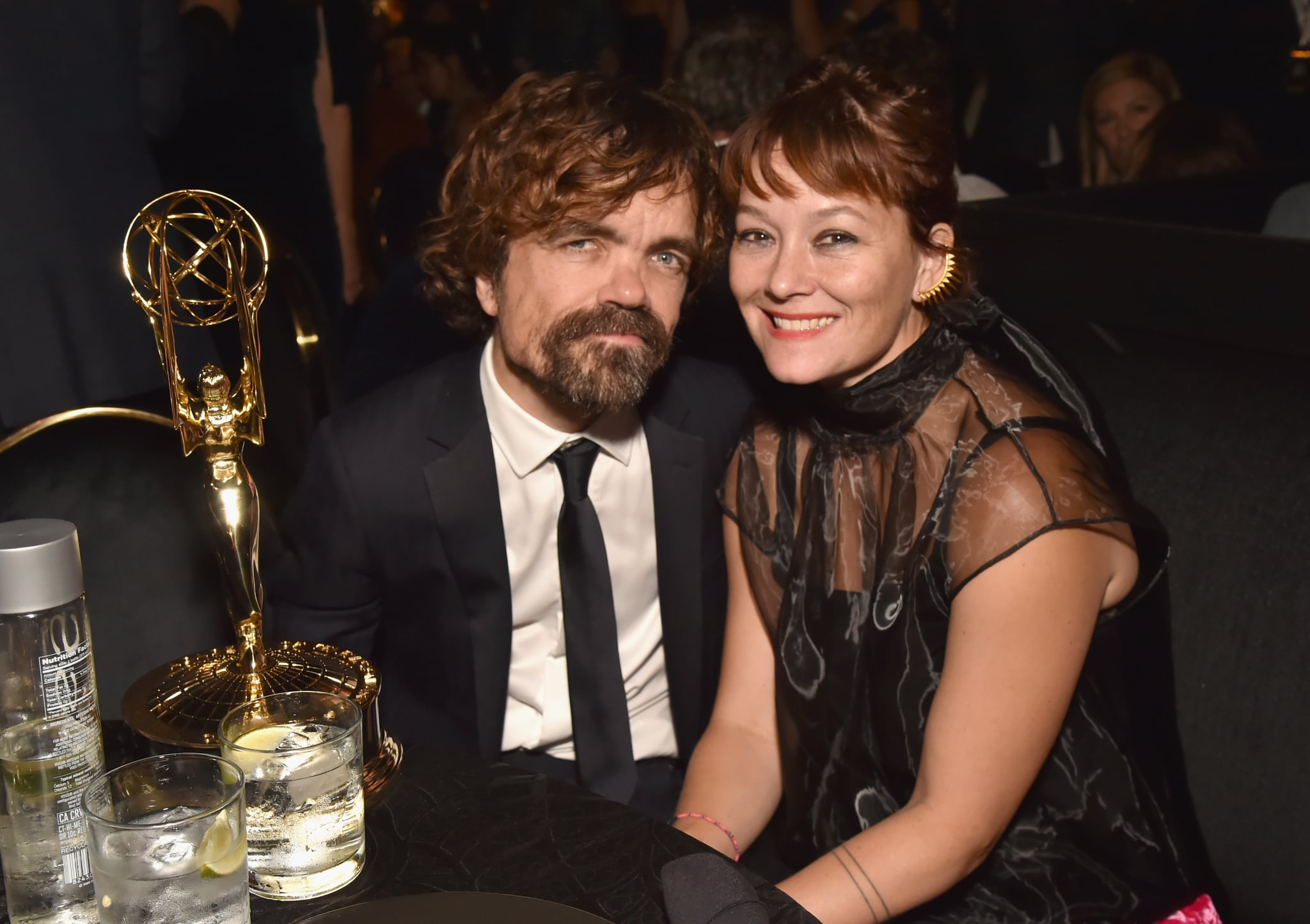 LOS ANGELES, CA - SEPTEMBER 17:  Peter Dinklage (L), winner of the award forOutstanding Supporting Actor in a Drama Series for