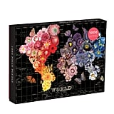 Galison 1,000-Piece Full Bloom World Map Puzzle