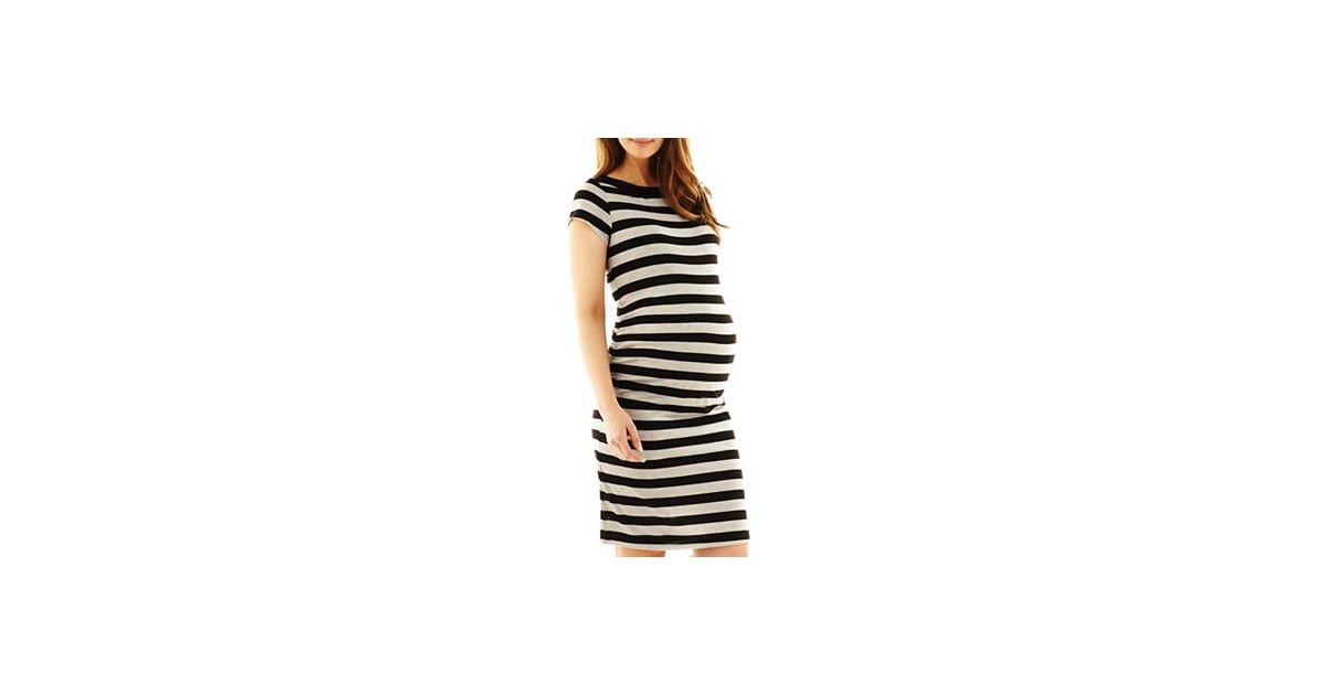 038212a849d04 A side-ruched t-shirt dress ($28, originally $35) is a must have for |  First-Trimester Maternity Clothes | POPSUGAR Family Photo 4