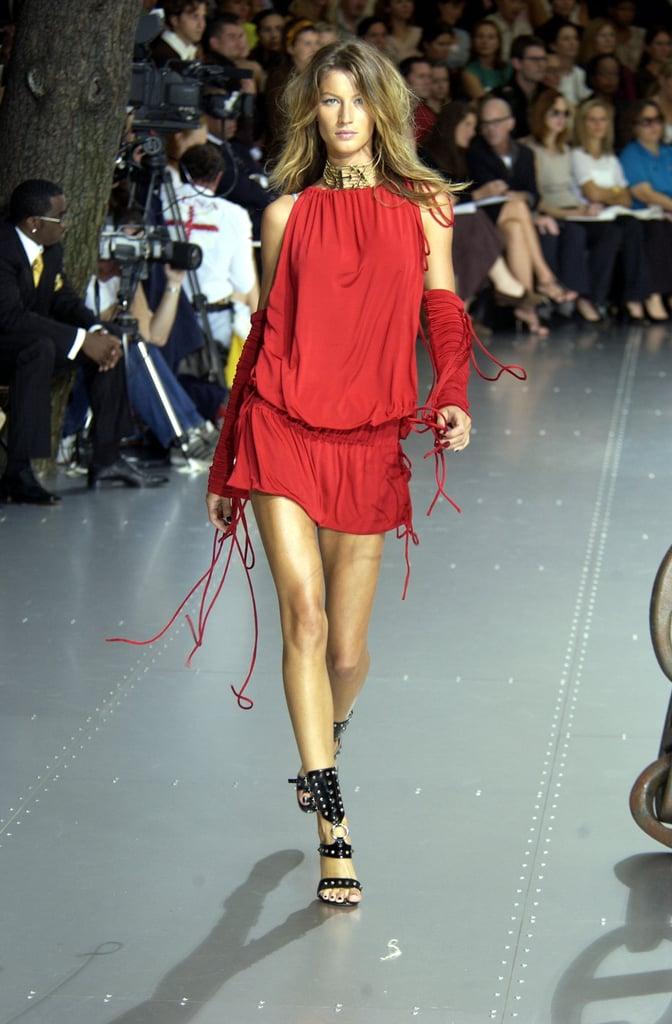 Gisele Bündchen on the Dolce & Gabbana Runway at Milan Fashion Week Spring 2003