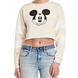 Century 21 Mickey Mouse Cropped Sweatshirt