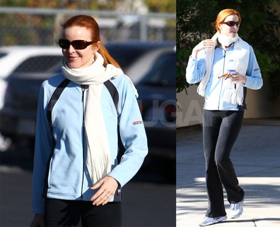 Marcia Cross Goes to the Gym