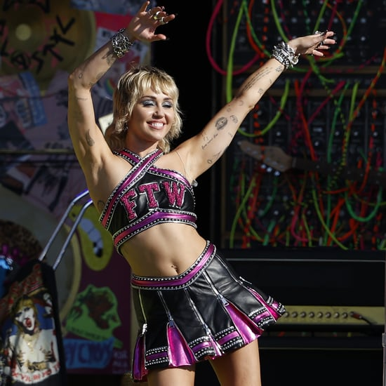 See Miley Cyrus's Super Bowl Pregame Cheerleader Outfit