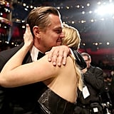 They had a group hug with Kate Winslet.