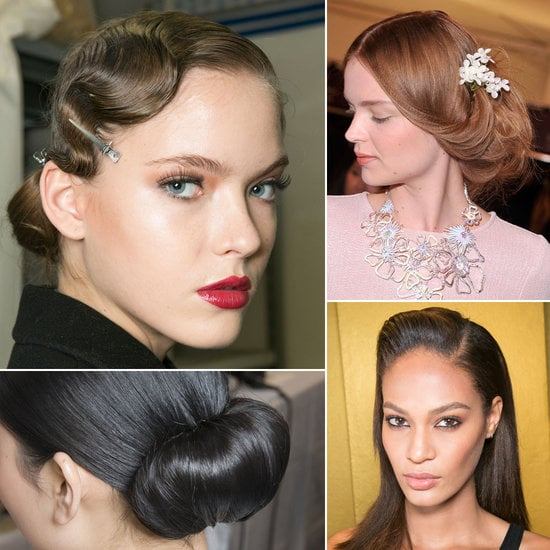 A bride must have options, so before you get to pinning hairstyles on Pinterest, get high-fashion inspiration from the runways. Up, down, or twisted around: find your stylish wedding hair look in POPSUGAR Beauty's runway-inspired guide.