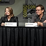 Matt Damon was at Comic-Con for Elysium with Jodie Foster.
