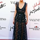 Olivia's Valentino dress was romantic and subtly sexy at the La Traviata premiere in Rome in 2016.