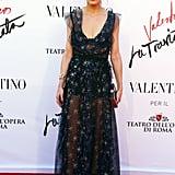 Olivia's Valentino dress was romantic and subtly sexy at the La Traviata premiere in Rome in 2016.