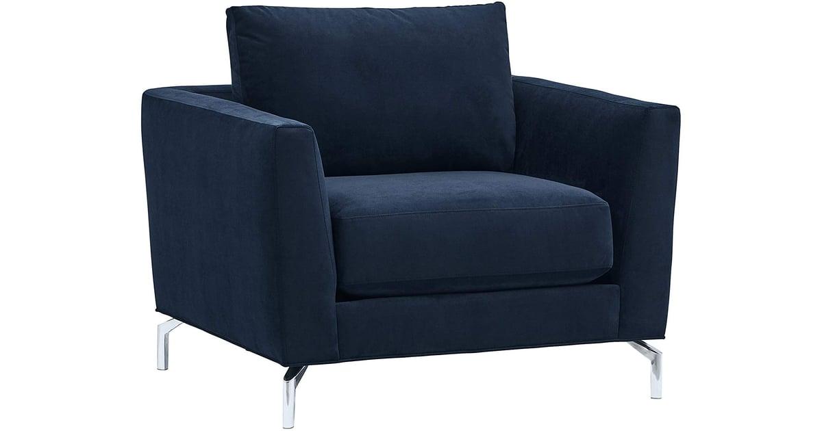 Rivet Emerly Mid Century Modern Velvet Accent Chair Most