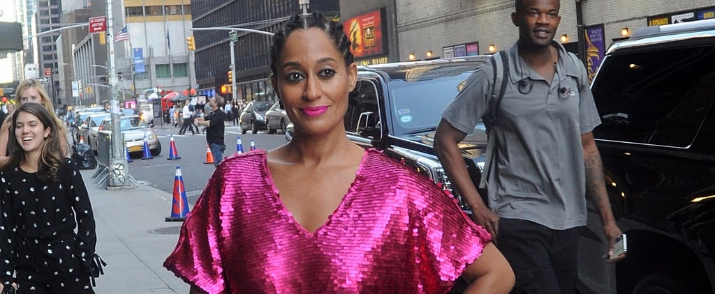 Tracee Ellis Ross Pink Sequin Dress From JCPenny Collection