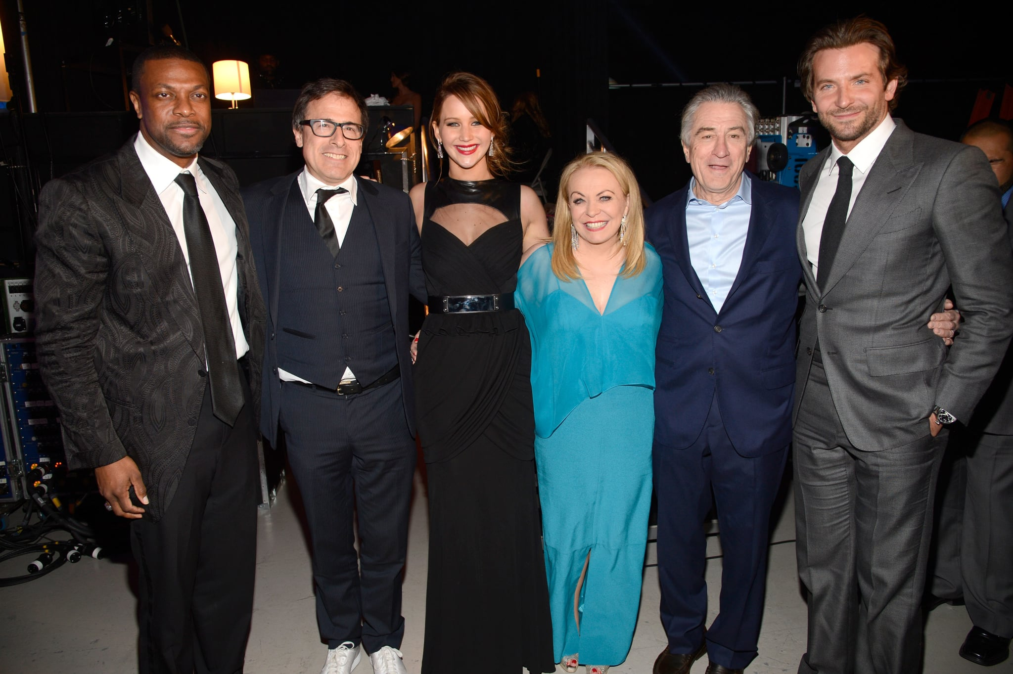 Jennifer Lawrence posed with her Silver Linings Playbook crew at the Critics' Choice Awards.