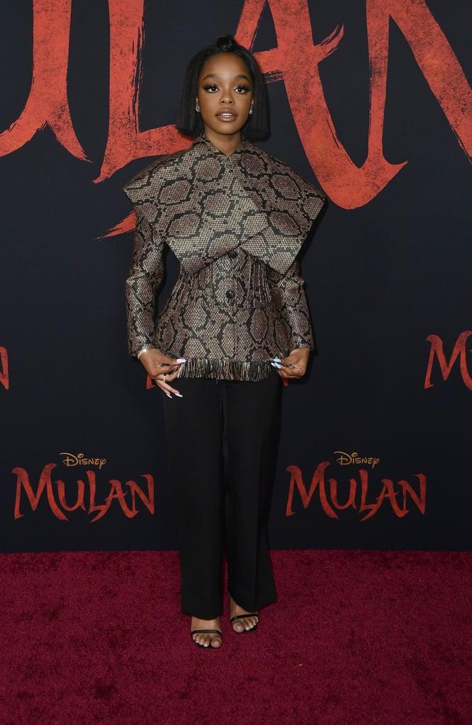 Marsai Martin at the World Premiere of Mulan in LA