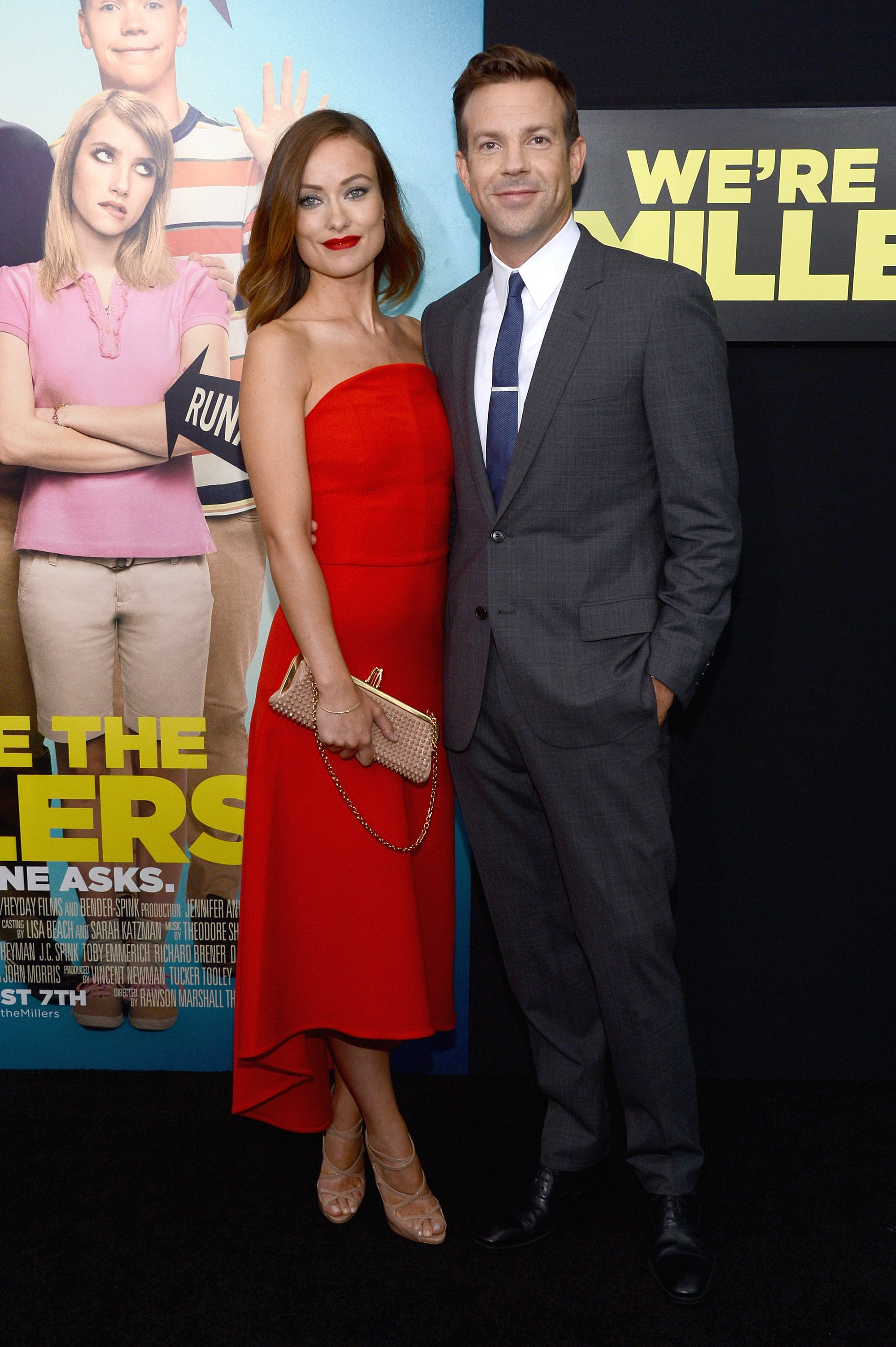 Olivia Wilde made for a red-hot date in Ozman at the We're the Millers premiere with Jason Sudeikis.