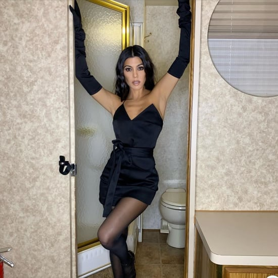 Kourtney Kardashian Black Dress by George Keburia