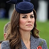 "During the Duchess of Cambridge's tour of Australia and New Zealand, there were many occasions when she wore a set of Asprey ""woodland charms"" on a necklace that included a diamond acorn and diamond oak leaf. She also wore a gold Kristin Magnusson acorn necklace to Wimbledon with sister Pippa in 2012."